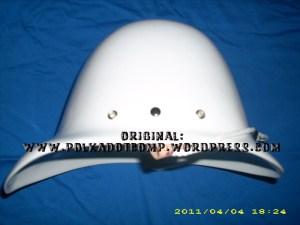 Topi onthel/ polkah model serdadu Inggris warna putih