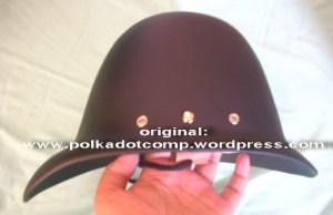 Topi onthel/ polkah model serdadu Inggris warna hitam