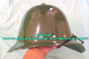 Topi onthel/ polkah model serdadu Inggris warna hijau tentara