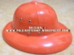 topi onthel/ topi demang/ polkah warna orange